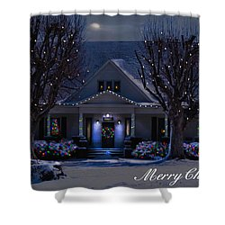 Shower Curtain featuring the photograph Home For Christmas by Bonnie Willis