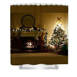 Home For The Holidays Shower Curtain by Ellen Henneke