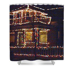 Home Holiday Lights 2011 Shower Curtain by Feile Case