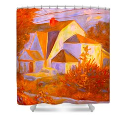 Home In Christiansburg Sketch Shower Curtain by Kendall Kessler