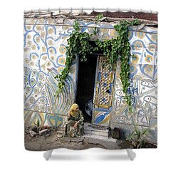Shower Curtain featuring the photograph Home In Ciro Egypt by Jennifer Wheatley Wolf