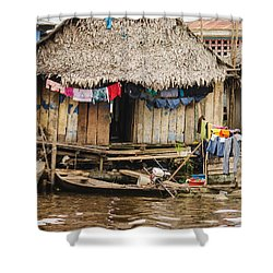 Home In Shanty Town Shower Curtain