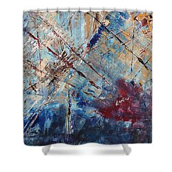 Shower Curtain featuring the painting Home Is Where The Heart Is by Lucy Matta
