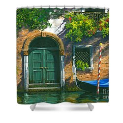 Shower Curtain featuring the painting Home Is Where The Heart Is by Michael Swanson