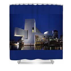 Home Of Rock 'n Roll Shower Curtain by Terri Harper