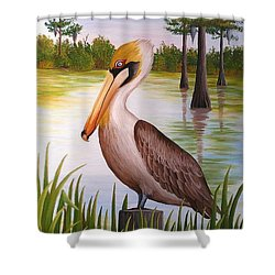 Home On The Bayou  Shower Curtain