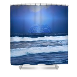 Home On The Horizon Shower Curtain