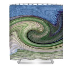 Home Planet - Gravity Well Shower Curtain by Bill Owen