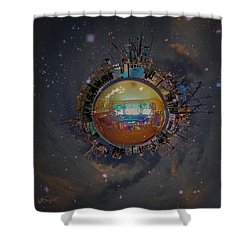 Home Planet Shower Curtain