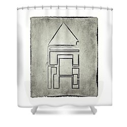 Home Structure In Stone Shower Curtain