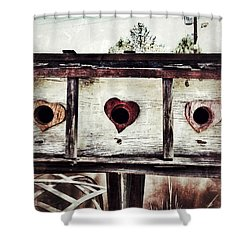 Home Sweet Home Shower Curtain by Mark David Gerson