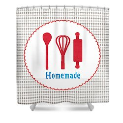 Homemade Shower Curtain by Linda Woods