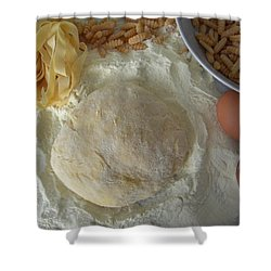 Shower Curtain featuring the photograph Homemade Pasta by Manuela Constantin