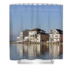 Homes On The Bay Shower Curtain