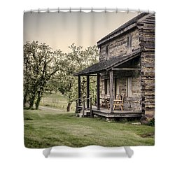 Homestead At Dusk Shower Curtain by Heather Applegate