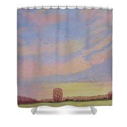 Homeward Shower Curtain by Ann Brian