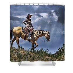 Homeward Bound Shower Curtain by Priscilla Burgers