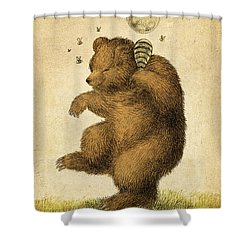 Honey Bear Shower Curtain