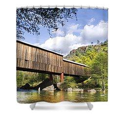 Honey Run Covered Bridge Shower Curtain