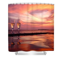 Honeymoon - A Heart In The Sky Shower Curtain