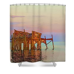 Honeymoon Cottage Shower Curtain