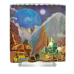 Shower Curtain featuring the painting Honeymoon In Oz by Art West