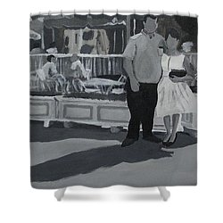 Honeymoon On Main St. Shower Curtain