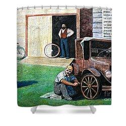 Hong Hing Mural Detail Shower Curtain by RicardMN Photography