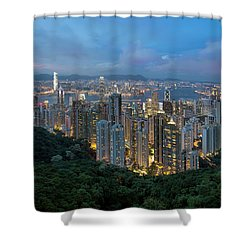 Hong Kong From Sky Terrace 428 At Victoria Peak Shower Curtain