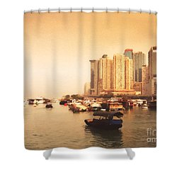 Hong Kong Harbour 02 Shower Curtain by Pixel Chimp