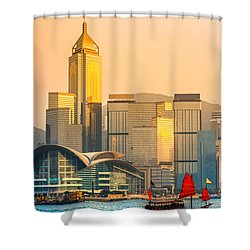 Hong Kong. Shower Curtain by Luciano Mortula