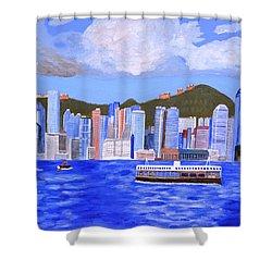 Hong Kong Shower Curtain by Magdalena Frohnsdorff