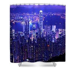 Hong Kong In Purple Shower Curtain