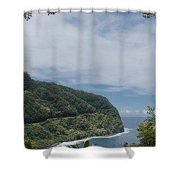 Honomanu - Highway To Heaven - Road To Hana Maui Hawaii Shower Curtain by Sharon Mau
