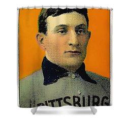 Honus Wagner Baseball Card 0838 Shower Curtain