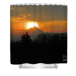 Hood On Fire Shower Curtain