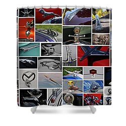 Hood Ornament Collage Shower Curtain