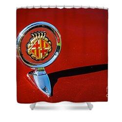 Hood Ornament On Matador Barcelona II Coupe Shower Curtain