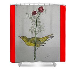 Hooded Warbler Shower Curtain by Kathy Marrs Chandler