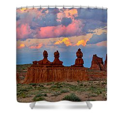Hoodoo Storm Shower Curtain