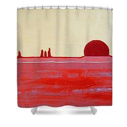 Hoodoo Sunrise Original Painting Shower Curtain