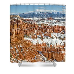 Hoodoos At Sunset Point Shower Curtain by Sue Smith
