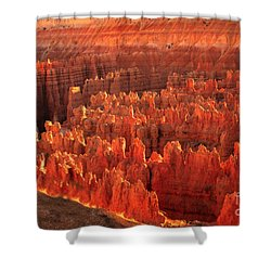Hoodoos Basin Shower Curtain by Robert Bales