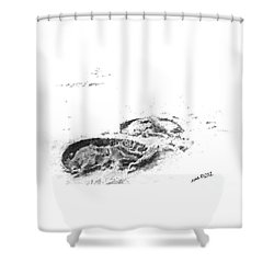 Hoof Prints Shower Curtain