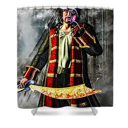 Hook Pirate Extraordinaire Shower Curtain by Bob Orsillo