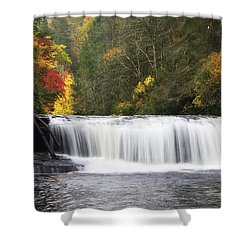 Hooker Falls In North Carolina Shower Curtain