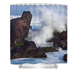 Hookipa Lava Shower Curtain by Jenna Szerlag