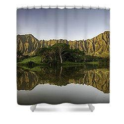 Hoomaluhia Sunrise Shower Curtain