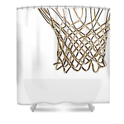 Hoops Anyone Shower Curtain by Karol Livote
