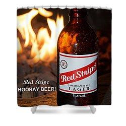 Hooray Beer Shower Curtain by John Black